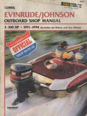 Evinrude Johnson Outboard Shop Manual  2hp - 300 hp